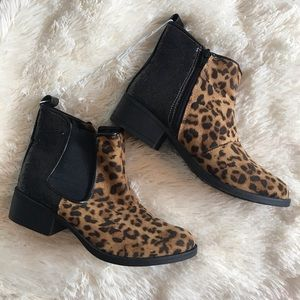 Stevies Leopard Print And Glitter Ankle Booties